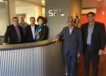 From left: John Stares, Peter Vorster, Steve Gow, Fiona Stares, S.A. Ramasamy and R. Elansudar